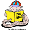 Bookworm reading Bible