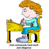 God commends hard work and diligence