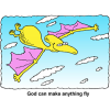 God Can Make Anything Fly | Christian Praise Clip Art
