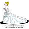 The Church is the Bride of Christ | Wedding Clip Art