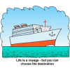 Ocean liner Clip Art - The Christian life is a Voyage