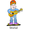 Man Playing Guitar - Sing to the Lord from your heart