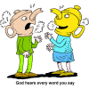 God hears every word | God Clip Art