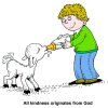 Kindness originates from God | God Clip Art