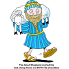 A Shepherd Carrying a Sheep | Shepherd Clip Art
