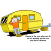 Happy is the man who can fit all his worldly goods into one small caravan