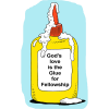 Glue Bottle - Gods love is the Glue for Fellowship