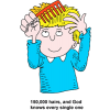 God Knows Every Hair | God Clip Art