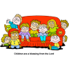 Kids on Couch - Children are a blessing from the Lord