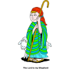 A Shepherd With a Sheep | Shepherd Clip Art