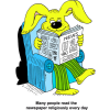 Rabbit Reading Newspaper - Many people read the newspaper religiously every day