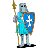 Knight with spear and shield