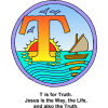 "This is a drawing of the letter ""T"" with the words, ""T is for Truth. Jesus is the Way, the Life, and also the Truth."" It's in the Bible Alphabet series. Great for young kids!"