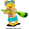 Bear with large spoon - Expect generosity from God