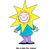 Be a star for Jesus. Smiling child wearing star costume