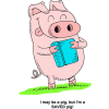 Pig Hugging a Bible - I may be a pig but Im a SAVED pig