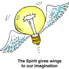 Light Bulb With Wings - The Spirit gives wings to our imagination