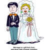 Marriage is a Gift From God |Wedding Clip Art