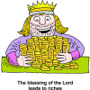 A King Embracing a Pile of Gold Coins