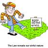 Keep off the Grass - The Law reveals our sinful nature