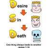Desire leads to Sin and Sin leads to Death | James Clip Art