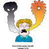Blessing and Curing From Same Mouth | James Clip Art