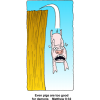 Pig Diving Over Cliff | Matthew Clip Art