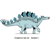 The Stegosaurus Was Created on the Sixth Day | Creation Clip Art