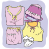 This an image of baby clothes. Cute for invitations or scrap booking.