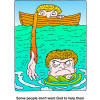Some people dont want God to help them | Evangelism Clip Art