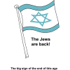 Israel Flag - The return of Israel as a nation is a sign of the end of the age