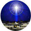 Christmas Star Circle | Christmas Clip Art