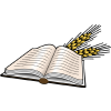 Open Bible with heads of wheat | Bible Clip Art