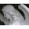 This is a photograph of a statue of an of angel taken by JoAnn Yardley.