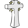 This is a clip art of a stone cross.