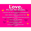 Love is Not For Sissies | Valentines Clip Art