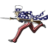 Uncle Sam Charging with bayonet