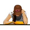 Girl Reading Bible | Bible Clip Art