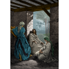 Colorize Work of Dore Jesus Mary and Martha Art | Luke Clip Art