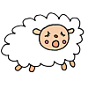 illustration of a yawning sleepy sheep