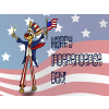 Rabbit on Stills dress in Uncle Sam garb. Happy Independence Day