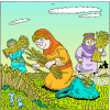 Ruth Gleaning Among Boazs Workers | Ruth Clip Art