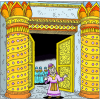 Then the king turned around and blessed the  whole assembly of Israel | 2 Chronicles Clip Art