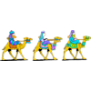 Three Maji riding on camels