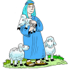 Standing Shepherd in Blue Robe | Shepherd Image