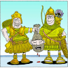 And they brought the head of Ishbosheth to David to Hebron | 2 Samuel Clip Art