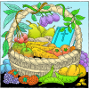 Bible in Basket of Harvest | Revelation Clip Art