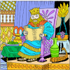 King Solomon Reading a Scroll | Solomon Clip Art