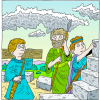 Rebuilding Wall with Weapons in Hand | Nehemiah Clip Art