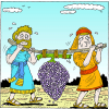 Spies Carrying Grapes | Deuteronomy Clip Art